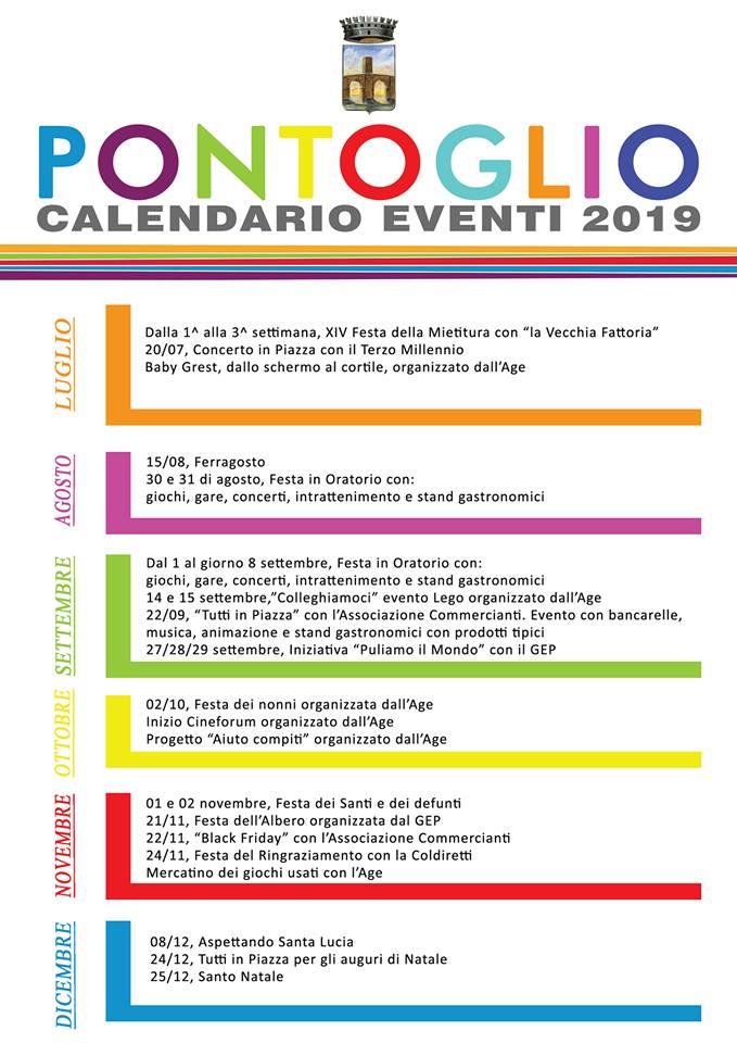 Calendario Festa Dei Nonni.Calendario Eventi Pontoglio 2019 Comune Di Pontoglio